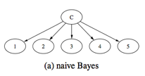 Figure 2. Graph structuresof NB, TAN and FAN